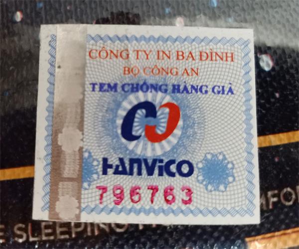 Tem chống hàng giả đệm lò xo Hanvico chính hãng