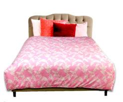 Chăn đông Organic mềm mại màu hồng
