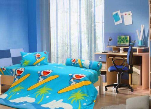 Bộ chăn ga gối hoạt hình Doraemon D18019