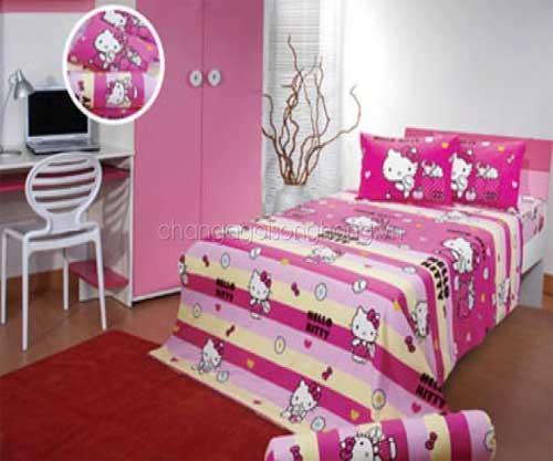 Bộ chăn ga gối Hello Kitty K15028