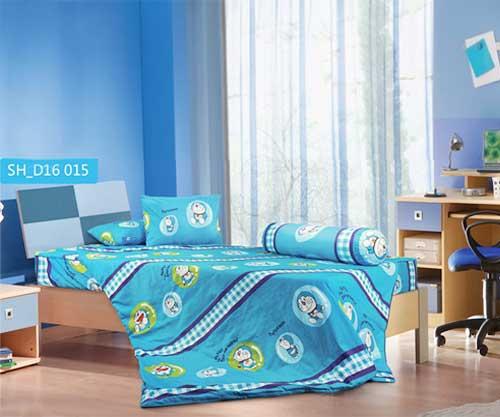 Bộ chăn ga gối hoạt hình Doraemon D16015