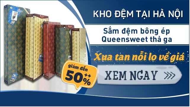 khuyến mãi đệm bông ép giá rẻ nhất Hà Nội