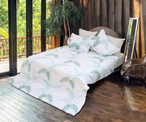 Bộ Chăn ga gối Sông Hồng Basic vải sợi gỗ BR20007