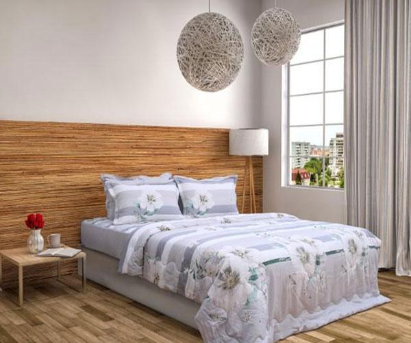 Bộ Chăn ga gối Sông Hồng Basic vải sợi gỗ BR20009
