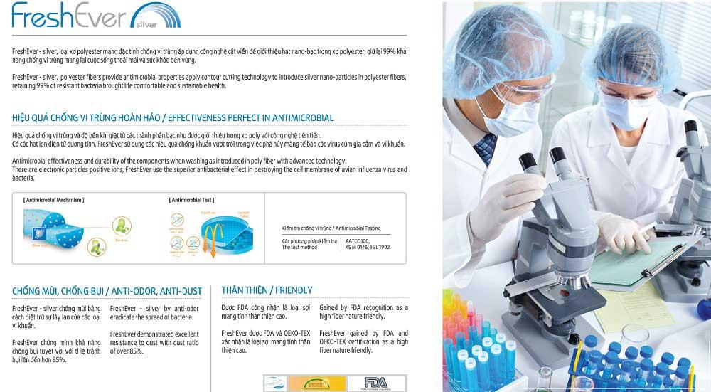 Công nghệ fresh ever chống khuẩn