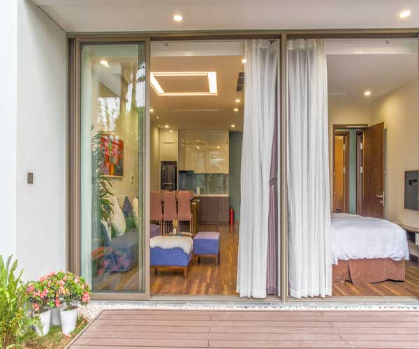 Lắp đặt đệm khu nghỉ dưỡng Trung ương Đại Nải Flamingo - Vĩnh Phúc