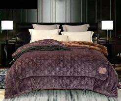 Chăn lông cừu Nicolas tím violet